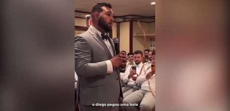 FLAMENGO: Romântico! Noivo faz votos de casamento narrando gol do título do Flamengo na Libertadores de 2019