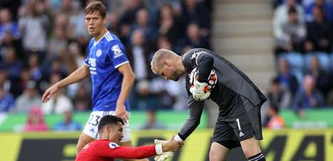 Em jogo de seis gols, Leicester vence o Manchester United
