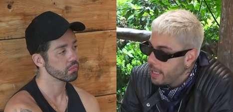 """Trégua? Gui Araújo conversa com Rico e sela paz em """"A Fazenda"""""""