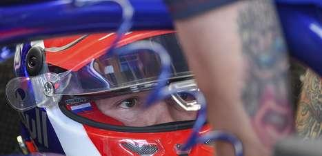 Kvyat testou os novos pneus intermediários de 18 polegadas para a F1