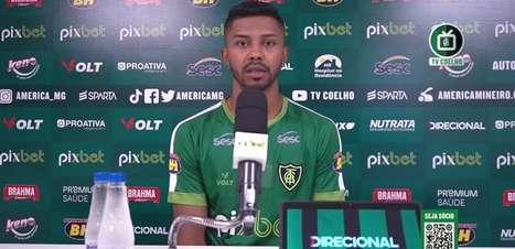 """AMÉRICA-MG: """"Jogaremos para vencer"""", defende Ricardo Silva ao projetar confronto direto contra o Santos"""