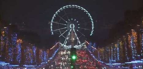 Imagens mostram como ficou iluminação de Natal de Paris