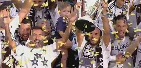 Veja gols da final da MLS e festa do campeão LA Galaxy