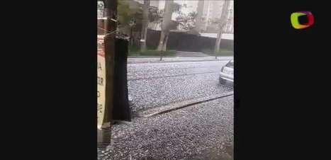 Leitor registra imagens de chuva de granizo em São Paulo