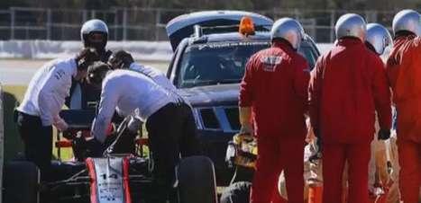 Vídeo faz simulação do forte acidente de Fernando Alonso