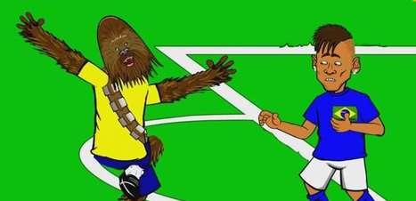 Charge com expulsão de Neymar tem Chewbacca e Vidal