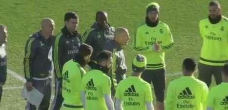 Zidane causa furor em seu primeiro treino no Real Madrid