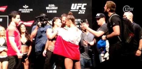 Encaradas em pesagem do UFC Rio tem confusão; assista!