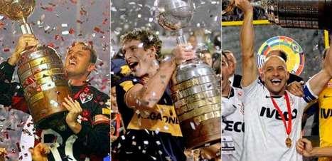 Relembre os capitães campeões da Libertadores deste século