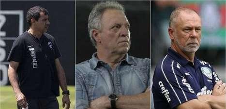 Mano Menezes e Abel Braga entram na lista! Confira os técnicos disponíveis no mercado brasileiro