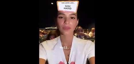 Bruna Marquezine é comparada a Gigi Hadid em app e opina sobre semelhança. Veja!