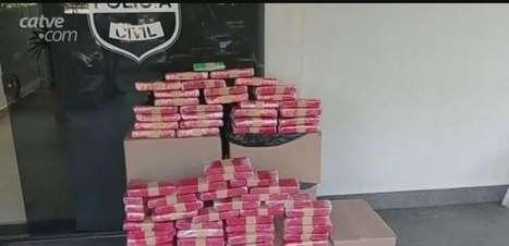 Mais de 200 kg de maconha são apreendidos pela PM em Toledo