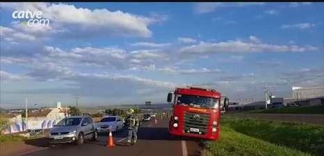 Jovem fica ferido ao sofrer queda de moto na BR 467 em Cascavel