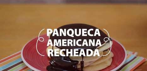 Panqueca americana recheada com Nutella®