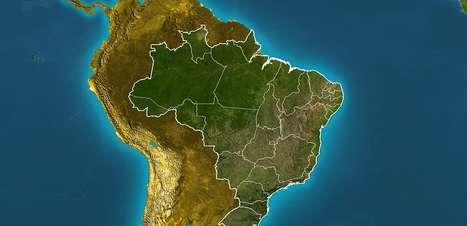 Previsão Brasil - Frio diminui e o tempo segue seco em grande parte do País.