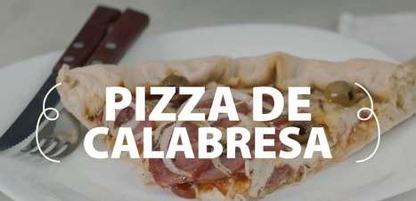 A pizza de calabresa mais fácil que você já viu