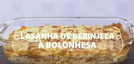 Lasanha de berinjela à bolonhesa