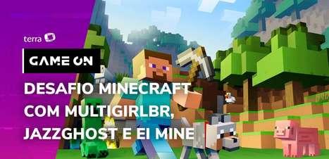 Desafio Minecraft com MultiGirlBR, JazzGhost e EI MINE