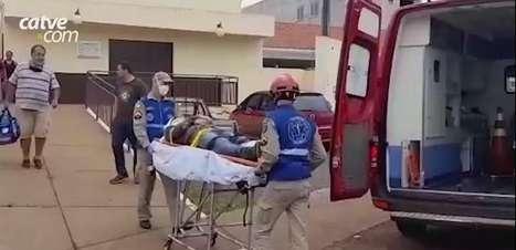 Homem quebra o pé ao cair de escada no Bairro Maria Luzia