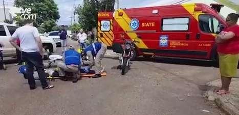 Motociclista fica ferida em acidente de trânsito no Bairro Canadá