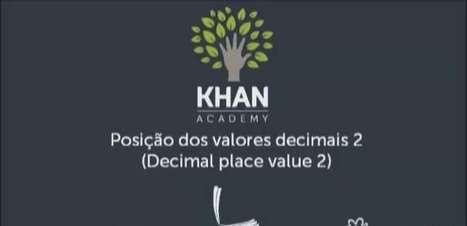 Posição dos valores decimais 2
