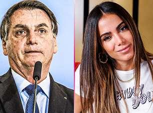 Bolsonaro manda indireta para Anitta e cantora rebate