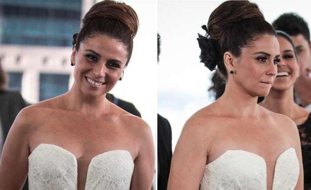 'Salve Jorge': Giovanna Antonelli grava cenas vestida de noiva