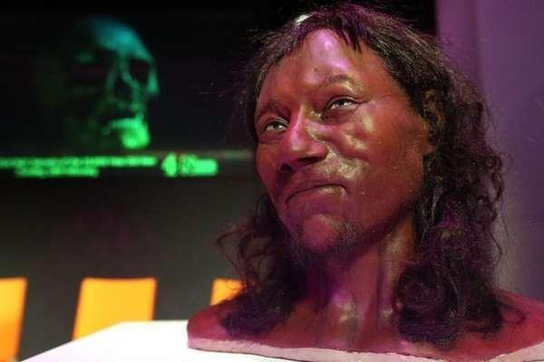 """A cor escura da pele protegia o """"homem de Cheddar"""" aos efeitos nocivos do sol.   Foto: PA"""