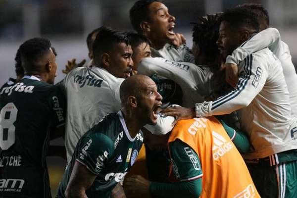 Palmeiras venceu pela última vez na Vila Belmiro em 2017, no Paulistão (Foto: Cesar Greco)
