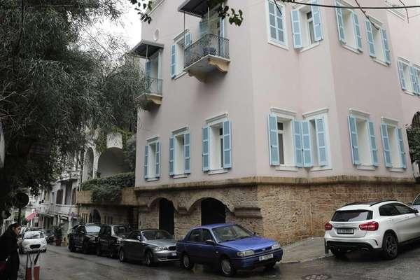 Esta casa em Beirute pertence a Ghosn. A esposa dele, Carole, nasceu na capital libanesa