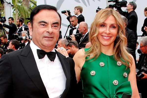 Carlos Ghosn e sua esposa, Carole.