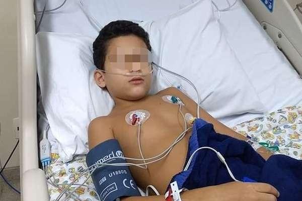 L., de 9 anos, na UTI de hospital do subúrbio do Rio, por causa do coronavírus