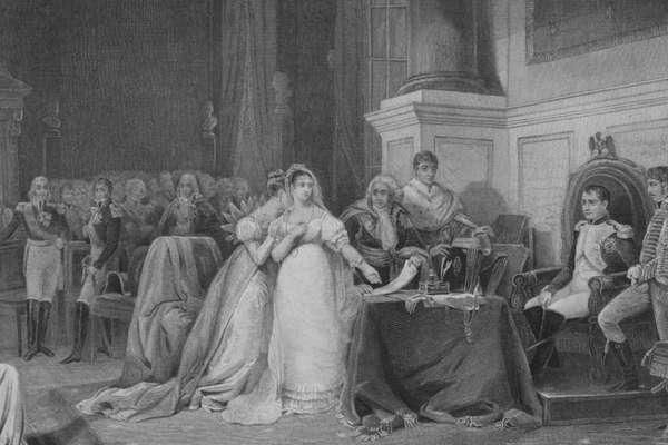 O então imperador Napoleão divorciou-se de Josefina em 1810