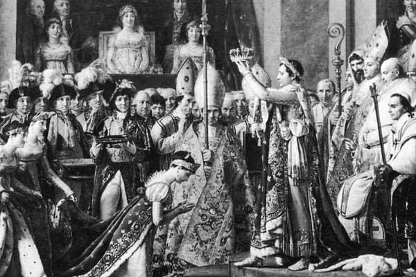 Em 2 de dezembro de 1804, Napoleão coroou a Imperatriz Josefina na Catedral de Notre Dame