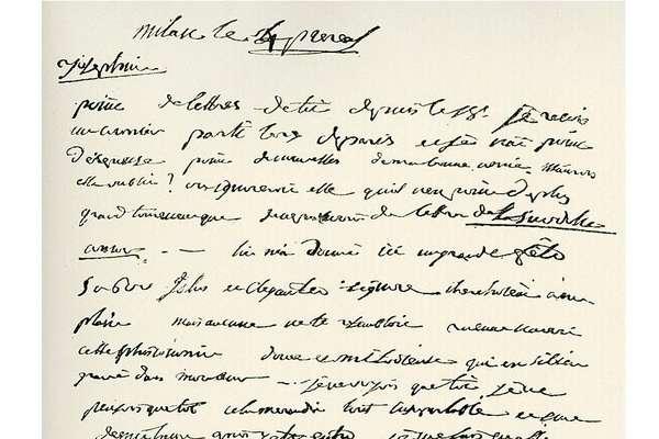 Carta de Napoleão para Josefina, datada de 23 de maio de 1796