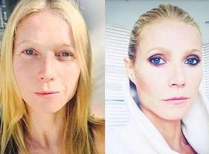 Cara lavada x make: Gwyneth Paltrow mostra transformação