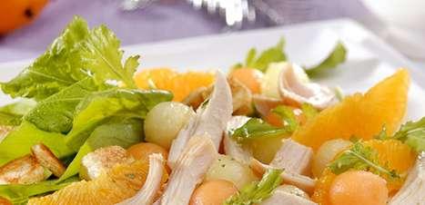 Salada de chester com melão