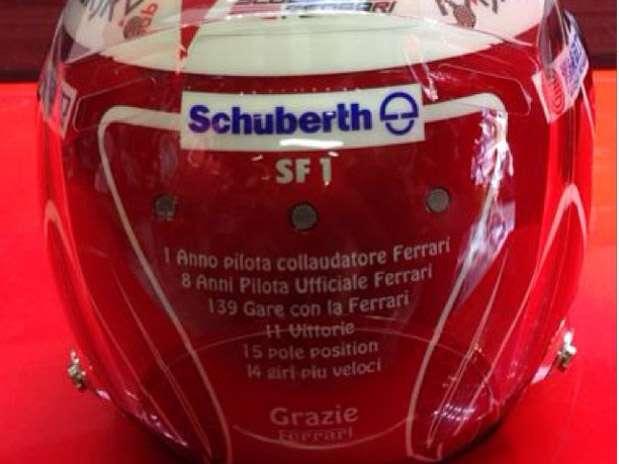 Capacete tem lista dos feitos de Massa na Ferrari Foto: Instagram / Reprodução