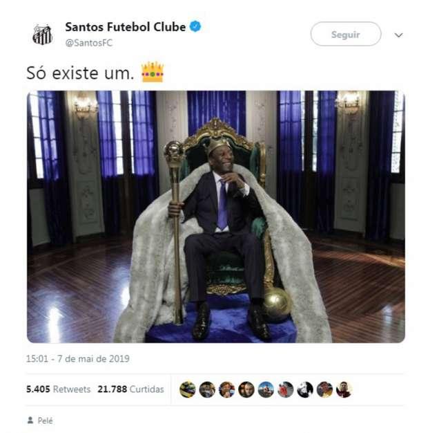 Post do Santos tirou onda com Messi após a eliminação na Champions (Foto: Divulgação/Twitter)