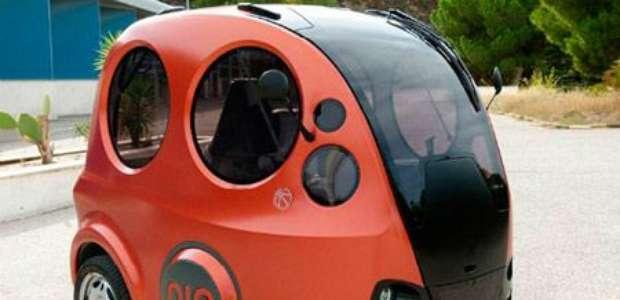 Carro compacto movido a ar comprimido quase não polui