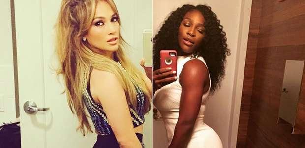 ¿Quién se tomó el mejor belfie: Serena Williams o JLo?