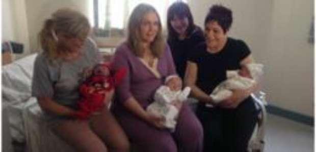 Três irmãs dão à luz no mesmo dia em hospital na Irlanda