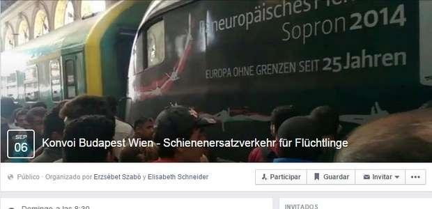 Crean en Facebook un convoy para llevar refugiados a Austria