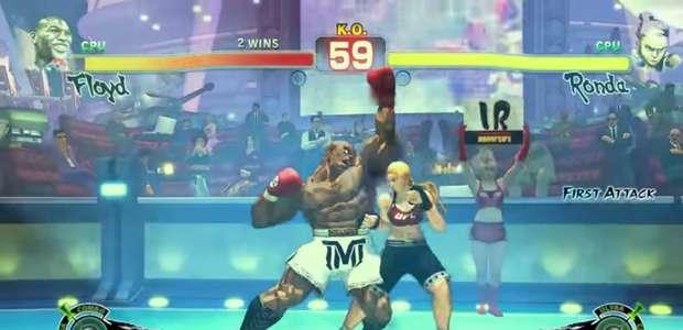Floyd Mayweather vs Ronda Rousey al estilo Street Fighter