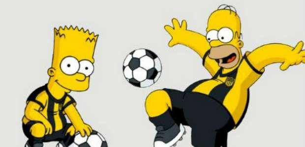 Homero y Bart Simpson se vuelven hinchas de Peñarol