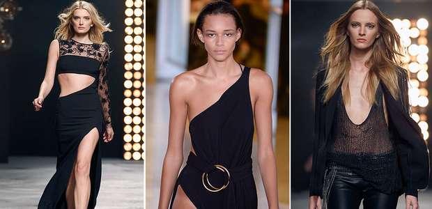 Fendas e decotes marcam semana de moda de Paris; veja fotos