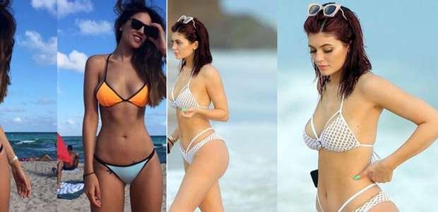 La estrella más sexy en bikini: Kylie Jenner o Eiza González