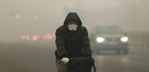 Imágenes de la impresionante capa de contaminación en Pekín