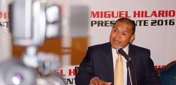 Miguel Hilario desmiente haber renunciado a su candidatura