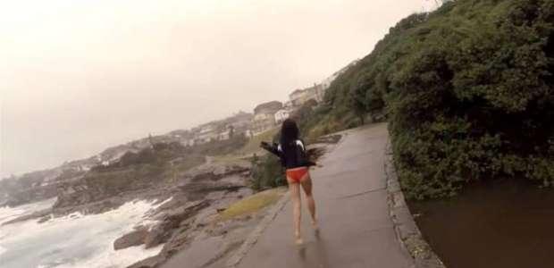 Captó el momento en que rayo casi mata a su novia: video